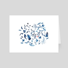 China Blue - Art Card by Sarah Lee