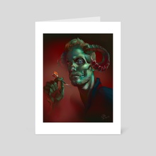 Dart devil - Art Card by Elise Baron