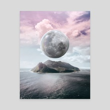 BIG MOON - Canvas by Dwi Pradhika