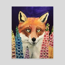 Foxglove - Canvas by Sam Hutt