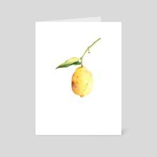 Lemon - Art Card by Lyubov Fonareva