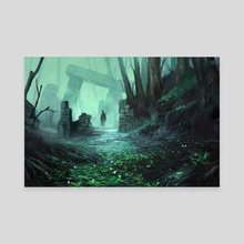 Relicts in the Forest - Canvas by Nele Diel