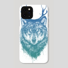 Deer wolf - Phone Case by Balazs Solti