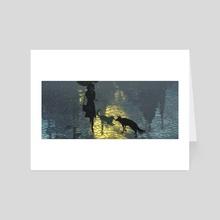 Rain reflections - Art Card by Gabriel Gomez