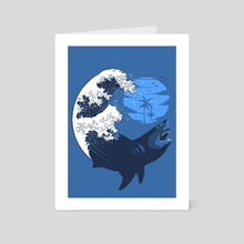 Shark Wave - Art Card by Alberto Perez