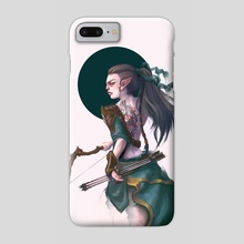 Wood Elf Archer - Phone Case by Lucy Georgina