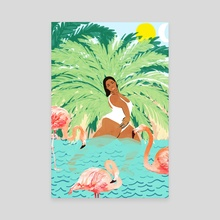 Water Yoga - Canvas by 83 Oranges