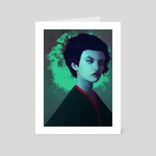 Moon Girl - Art Card by Josh Merrick