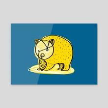 cute wombat illustration - Acrylic by Revolution Australia