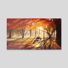 Autumn - Countryside - Acrylic by Bastien Grivet