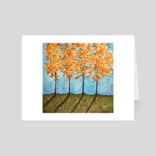 Orange Maples - Art Card by JENNIFER LIDDICOAT