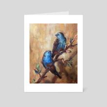 Waxbills - Art Card by Abby Hope