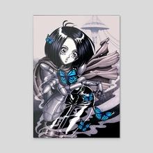 Battle Angel Alita - Acrylic by Ben Krefta