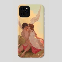 Cupid and Psyche - Phone Case by awanqi