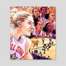 WNBA All Stars 2019 - Team Delle Donne - Acrylic by Kevin Czap