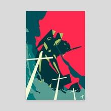 Neon Genesis Evangelion - Canvas by Alex Uploads