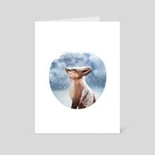 I am an Arctic fox! - Art Card by Annamária Fekete