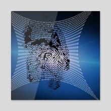 Digital Fingerprint - Acrylic by Bruce Rolff