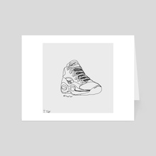 "Reebok x Allen Iverson's ""Question Mid"" (Single Line Drawing) - Art Card by Trae Tay"