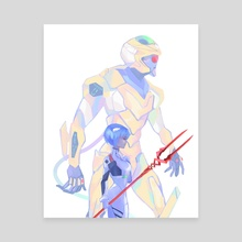 rei and eva 00 - Canvas by Kassio
