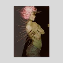 Wild Peony - Acrylic by Rita Dmitrijenko