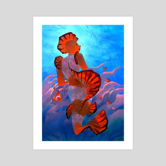 clownfish mermaid by Caitlin Soliman