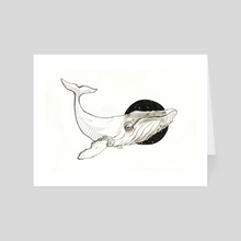 "Whale - Art Card by Dana ""Tsuki"" Cecile"