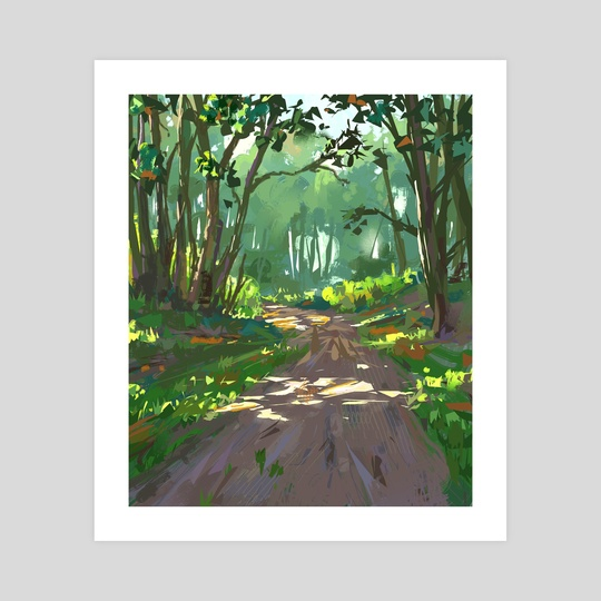 Forest path by Ed  Pulella