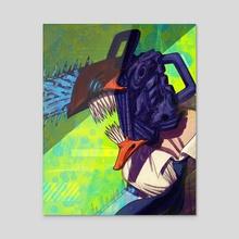 chainsaw - Acrylic by BARBARUSAH