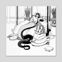 Tears of a Snakewoman - Acrylic by Natasha