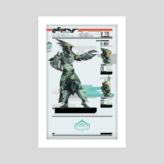 Arcane Zephyr the Wind Elemental - Focus Print by Liger Inuzuka