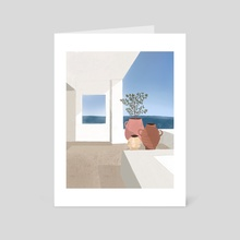 At sea - Art Card by Zoe Tischner