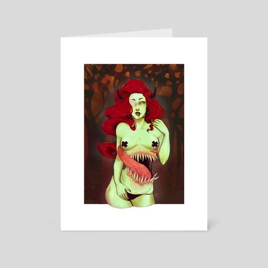 Devilish Pinup  by Viktoria Dekay
