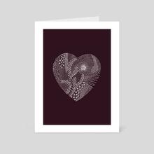 Red Heart - Art Card by Linda Kofoed