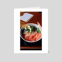 Salmon don - Art Card by Kay Tang