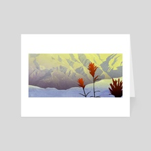 Indian Paintbrush - Art Card by tod polson