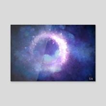 Moonglow Abstract Painting - Acrylic by Bridget Garofalo