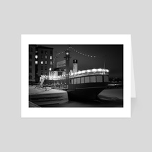 BOAT ON AIR - Art Card by Florian Cordier