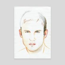 rainbow portrait - Canvas by Krzysztof Wielkopolski