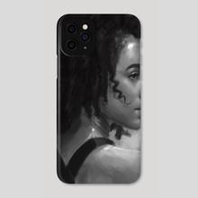 Nathalie Emmanuel Charcoal - Phone Case by MARK CLARK II