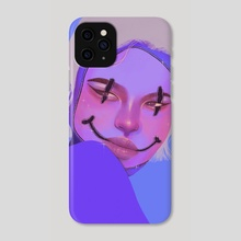 SMILEY FACE - Phone Case by OLOHJIN