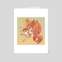 Cupids In Love - Art Card by Jessica  Madorran