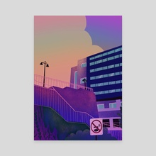 days end - Canvas by rachel watson