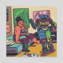 Two Friends - Canvas by Aaron Walsh