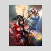 Fantasy girls - Canvas by Vanette Kosman
