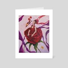 El beso de la Rosa - Art Card by Paola Aragón Rocco