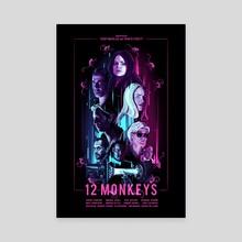 12 Monkeys - Canvas by Carina Tous