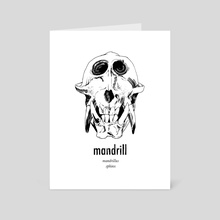 Mandrill (Piece 1) - Art Card by Aimee Flom
