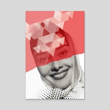 Another Girl - Acrylic by Serg  Nehaev