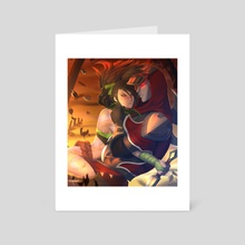 Akali & Zed  - Art Card by Andorah Leon
